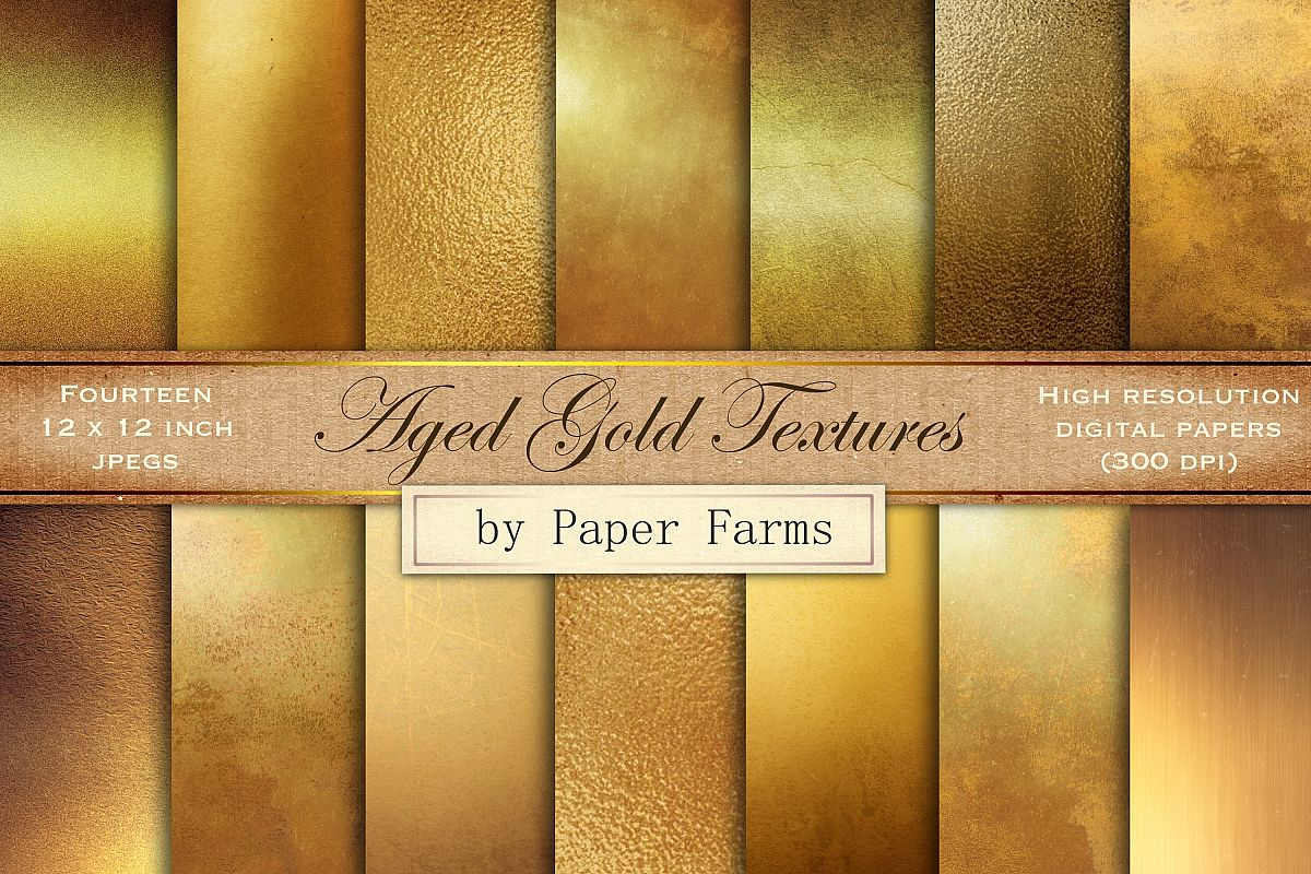 Antique gold textures example image 1
