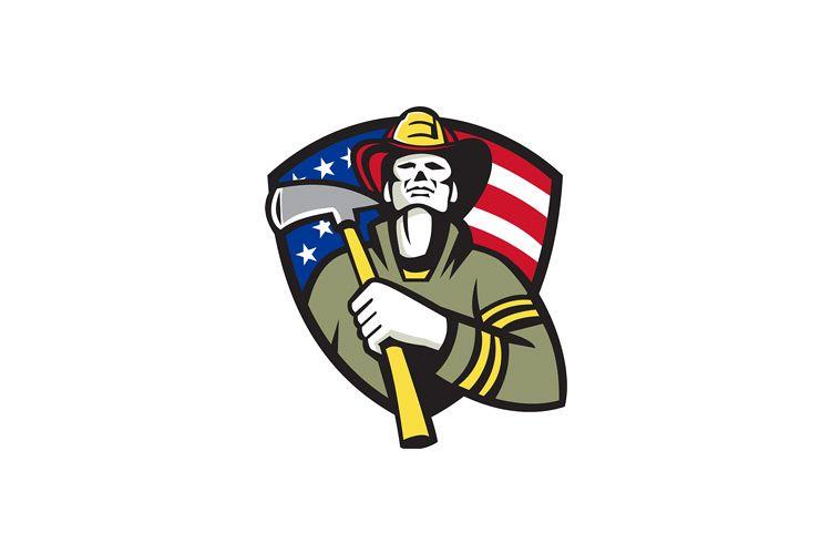 American Fireman Firefighter Emergency Worker example image 1