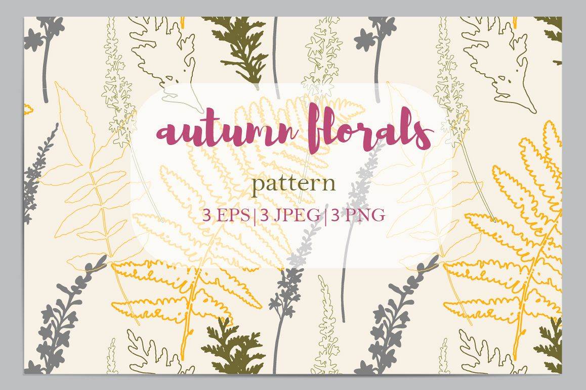 Autumn florals seamless pattern example image 1