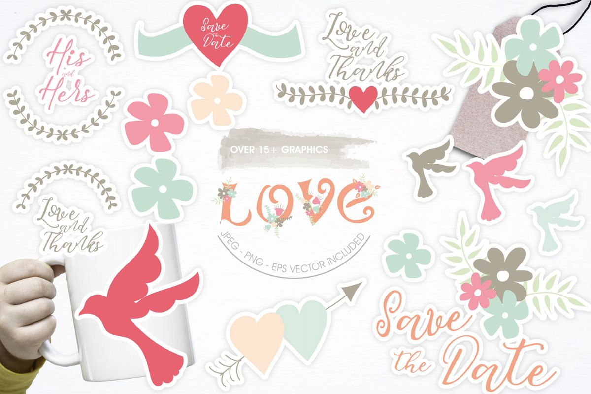 Love Cute Graphics example image 1