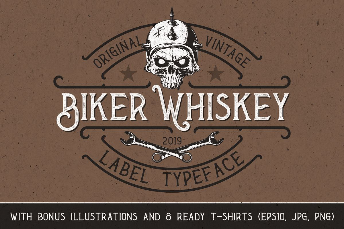 Biker Whiskey Layered Font example image 1