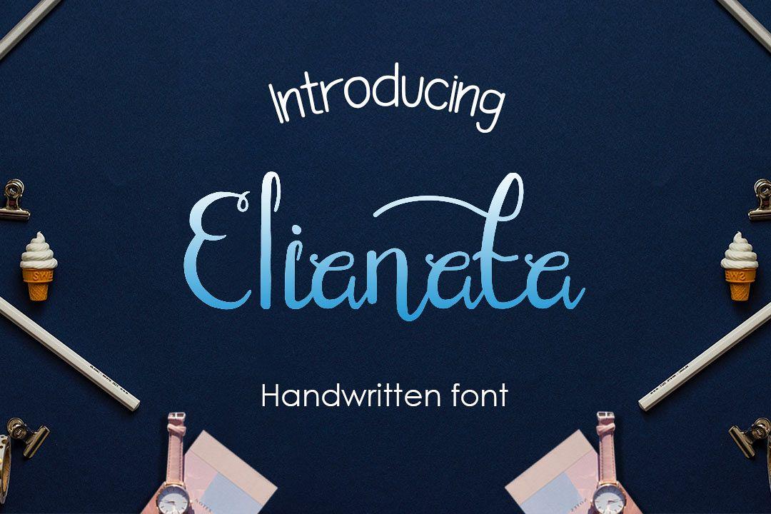 elianata script handwritten font example image 1