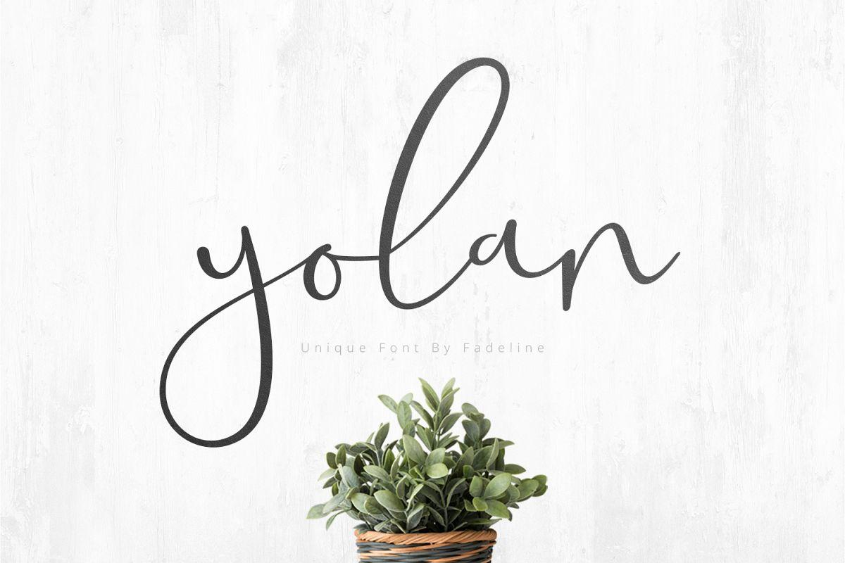 Yolan Unique Font example image 1