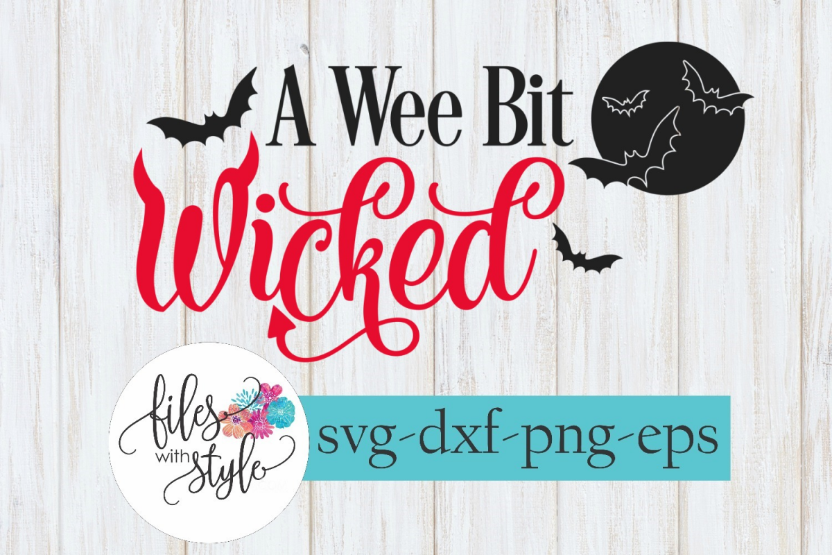 A Wee Bit Wicked Halloween SVG Cutting Files example image 1