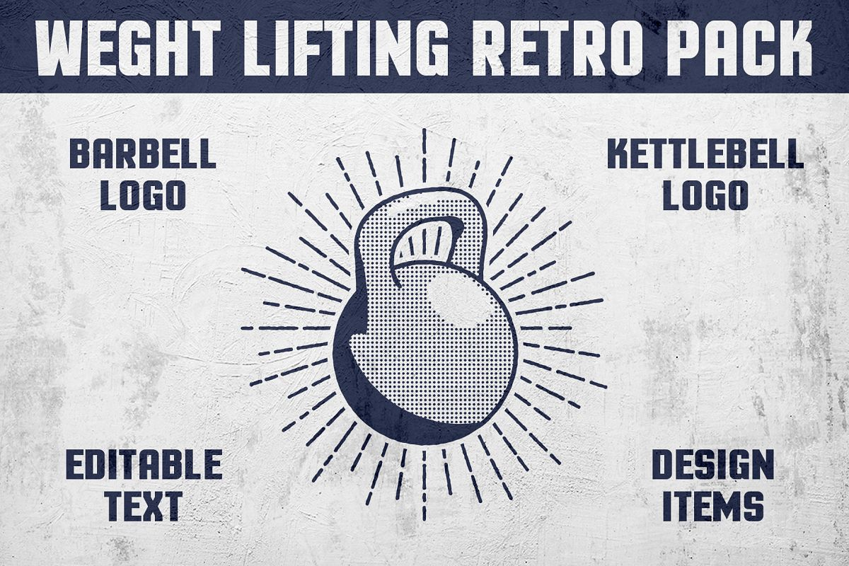 Weight Lifting Retro Pack example image 1