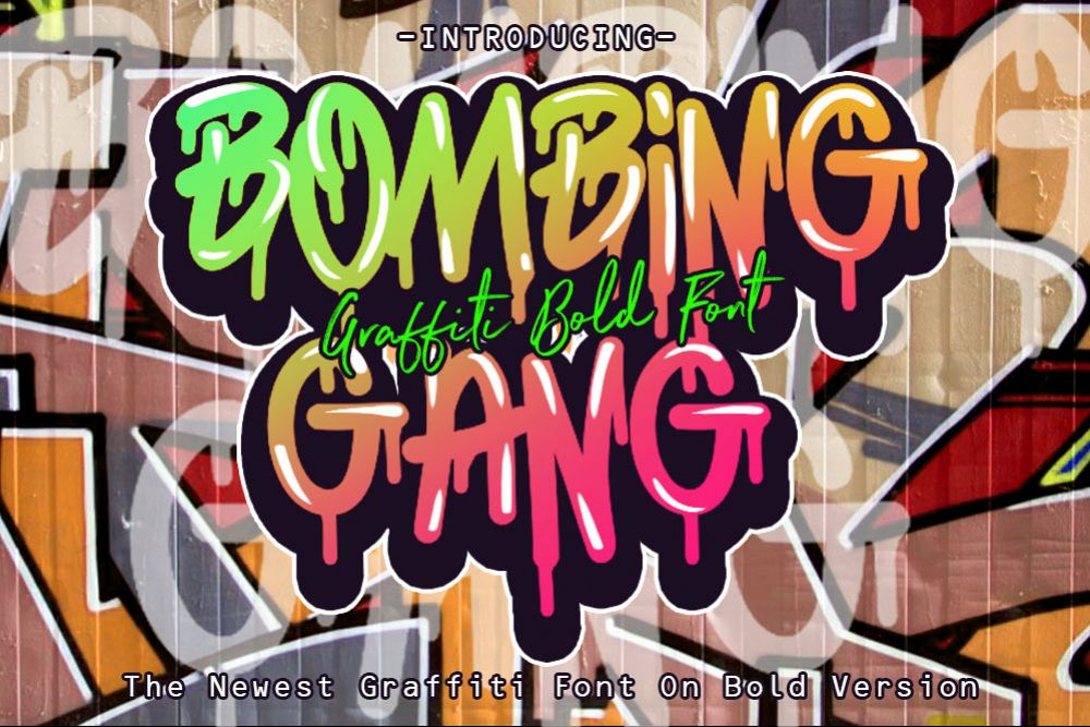 BOMBING GANG GRAFFITI BOLD FONT example image 1