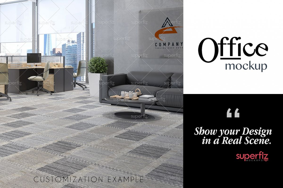 Blank Floor Commercial PSD Mockup SM76 example image 1