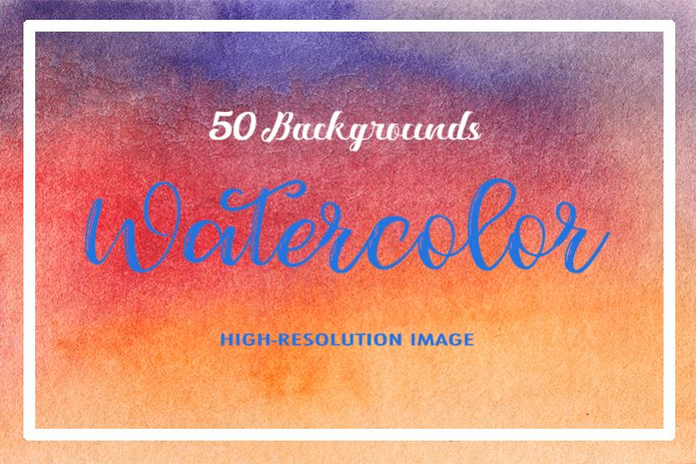 50 Watercolor Backgrounds 04 example image 1
