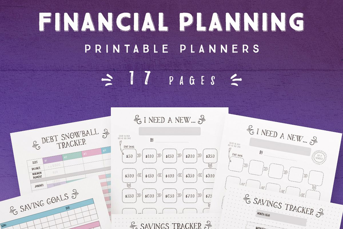 Financial Planning Printables -17 Pages example image 1