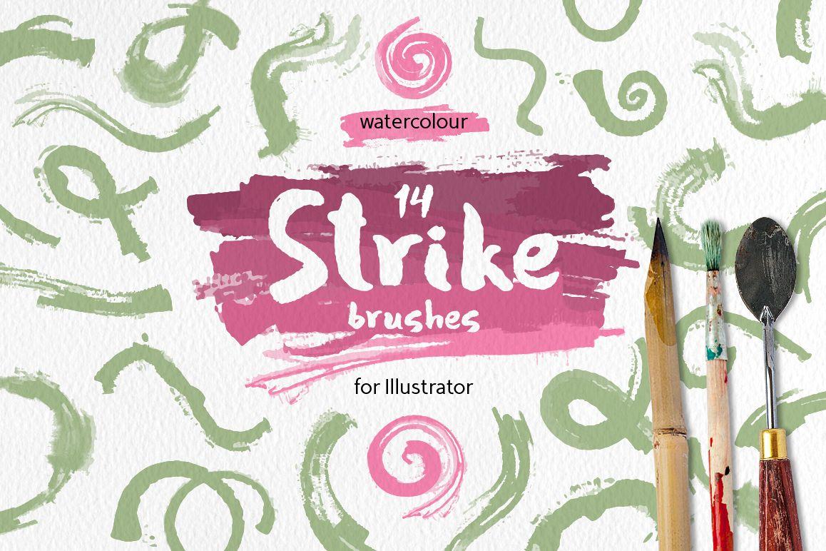 Strike Brushes for Illustrator example image 1