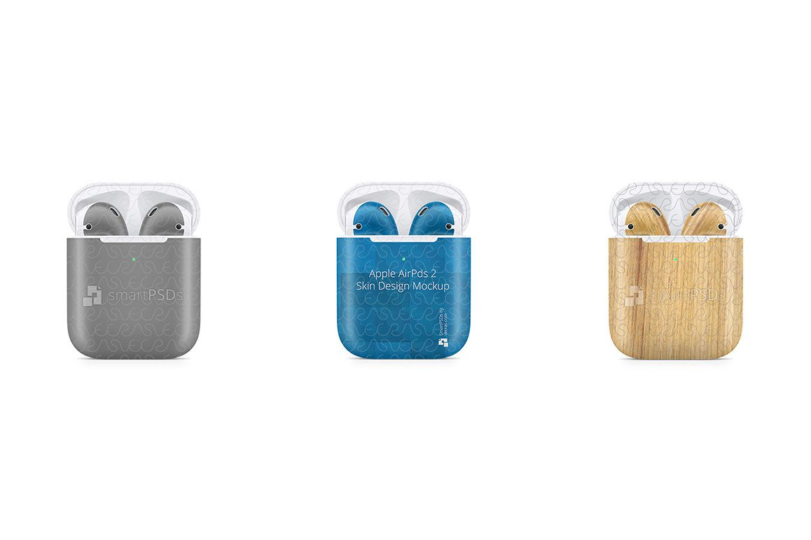 Apple AirPods Wireless Charging Case Vnyl Skin Design Mockup example image 1