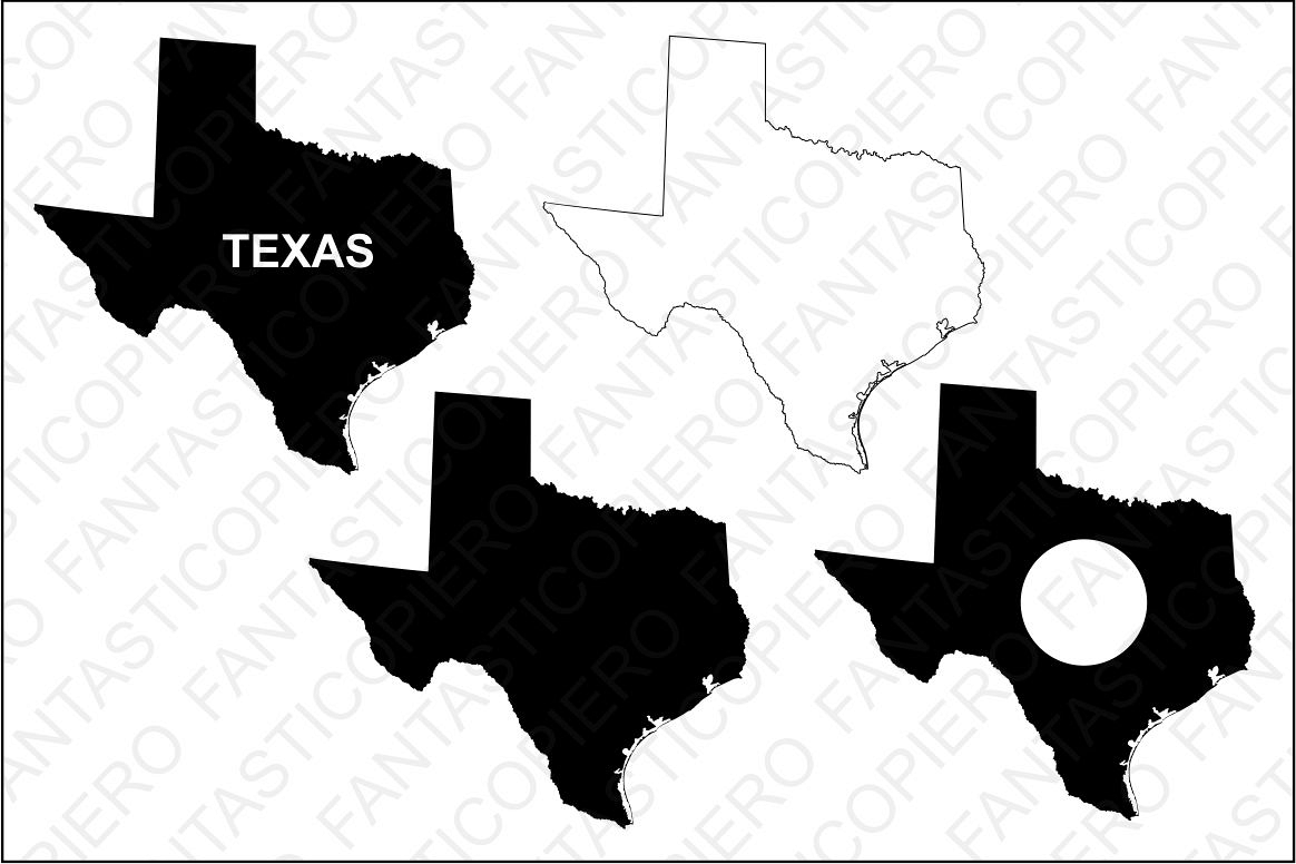 Texas map SVG files for Silhouette Cameo and Cricut. example image 1
