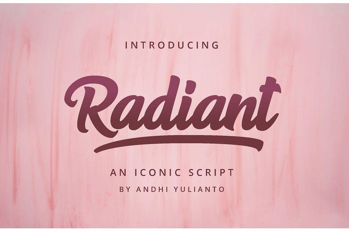 Radiant Iconic Script example image 1