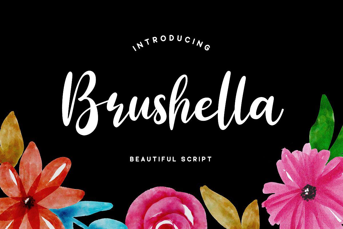 Brushella - Beautiful Script Font example image 1