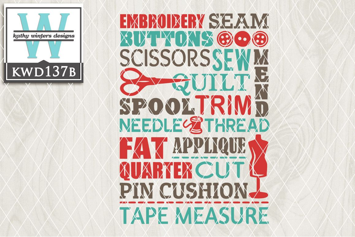 Sewing Cutting File KWD137B example image 1