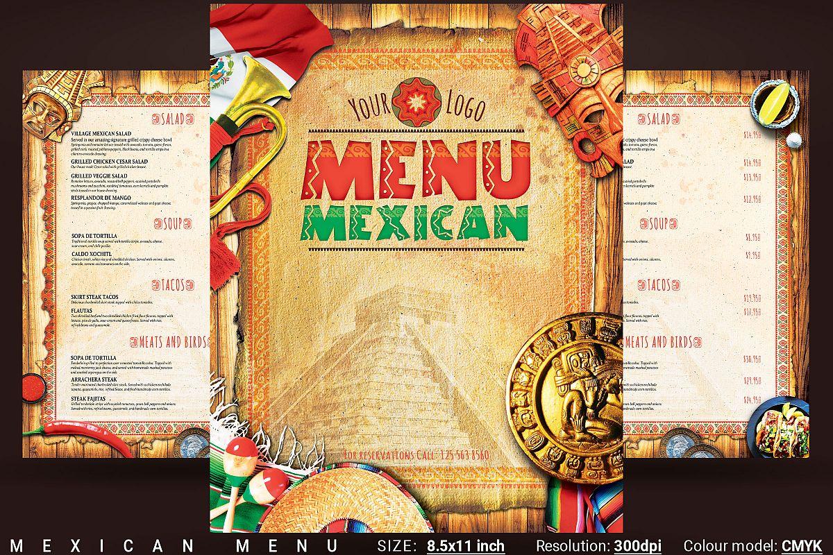 Mexican Menu example image 1