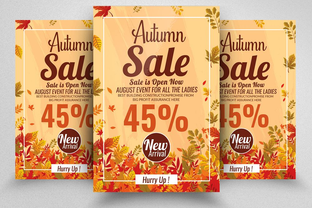 Autumn / Fall Sale Discount Offer Flyer example image 1