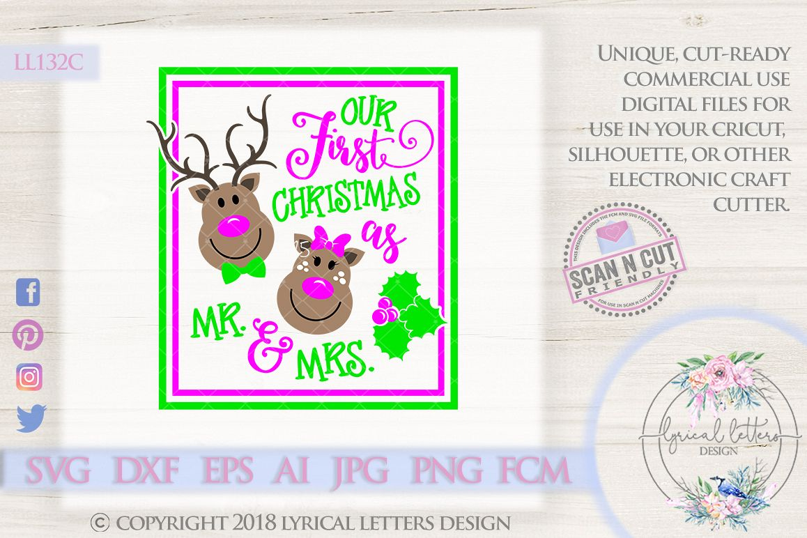 Our First Christmas as Mr and Mrs Chris | Design Bundles