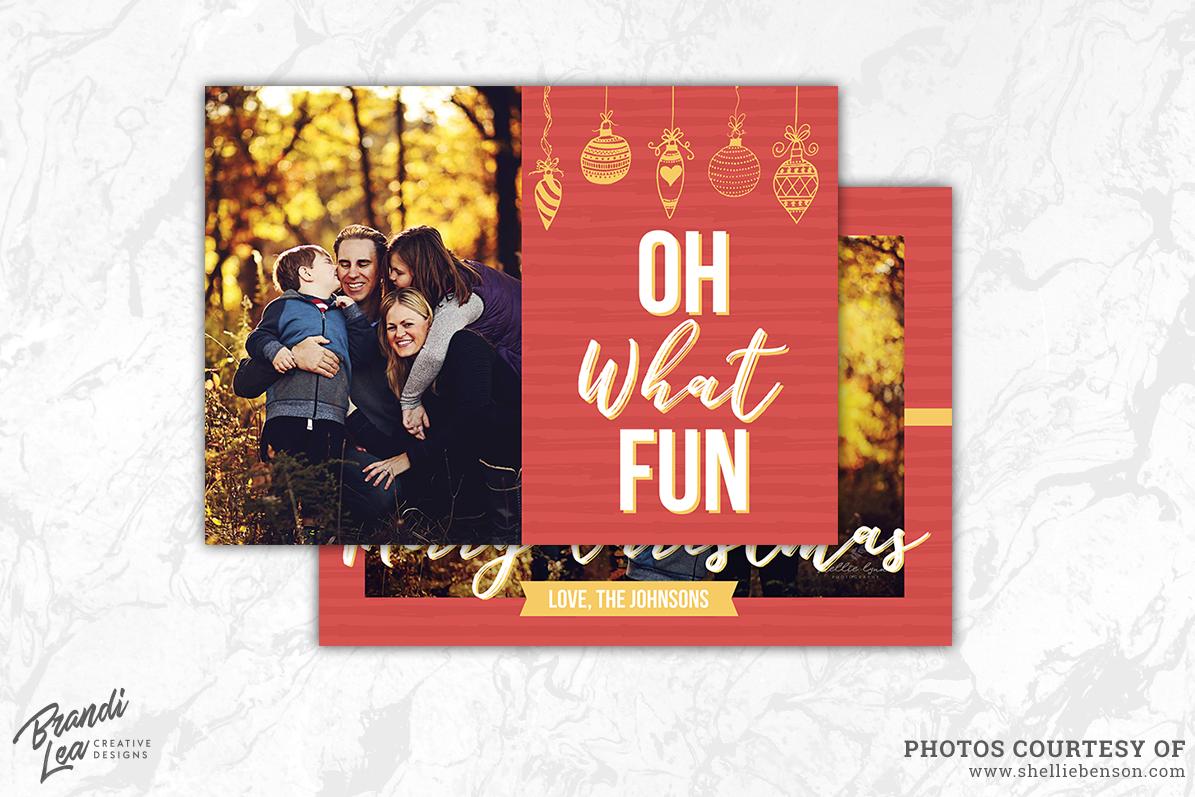 Photography Christmas Card Template