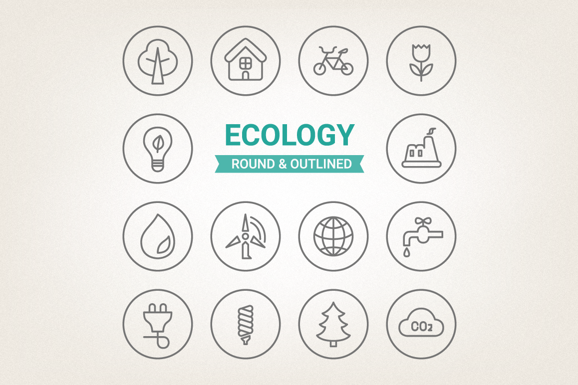 Circle Eco Icons example image 1