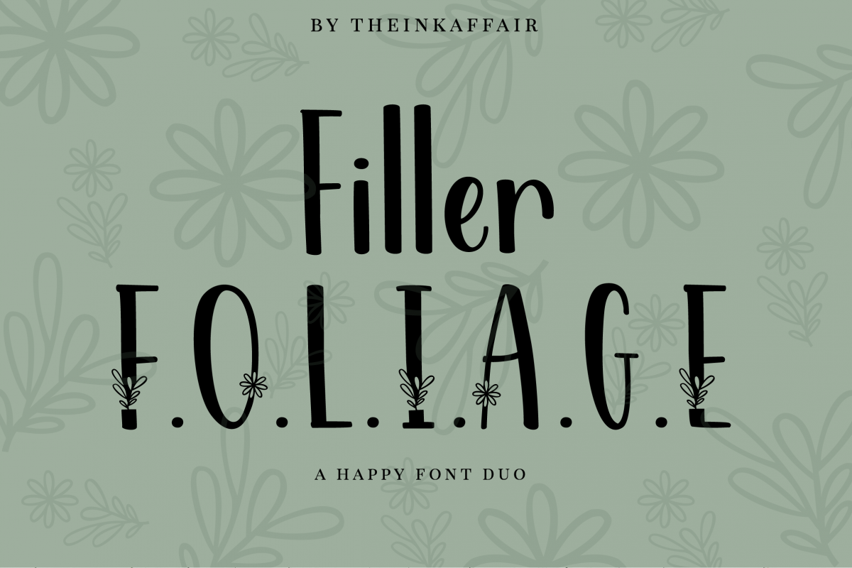 Filler Foliage - A Happy Font Duo example image 1
