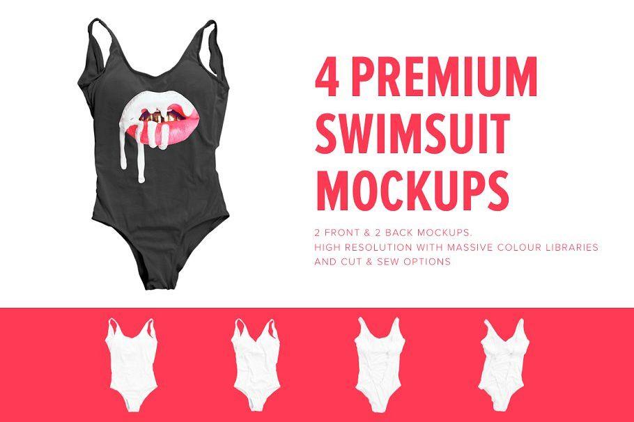 Premium One Piece Swimsuit Mockups example image 1