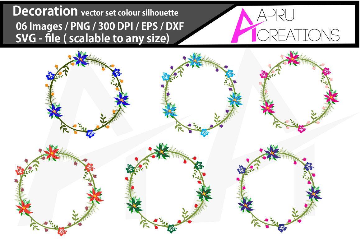 Christmas set wreath SVG / flourish SVG/ flourish vector / Christmas set wreaths svg / commercial use example image 1