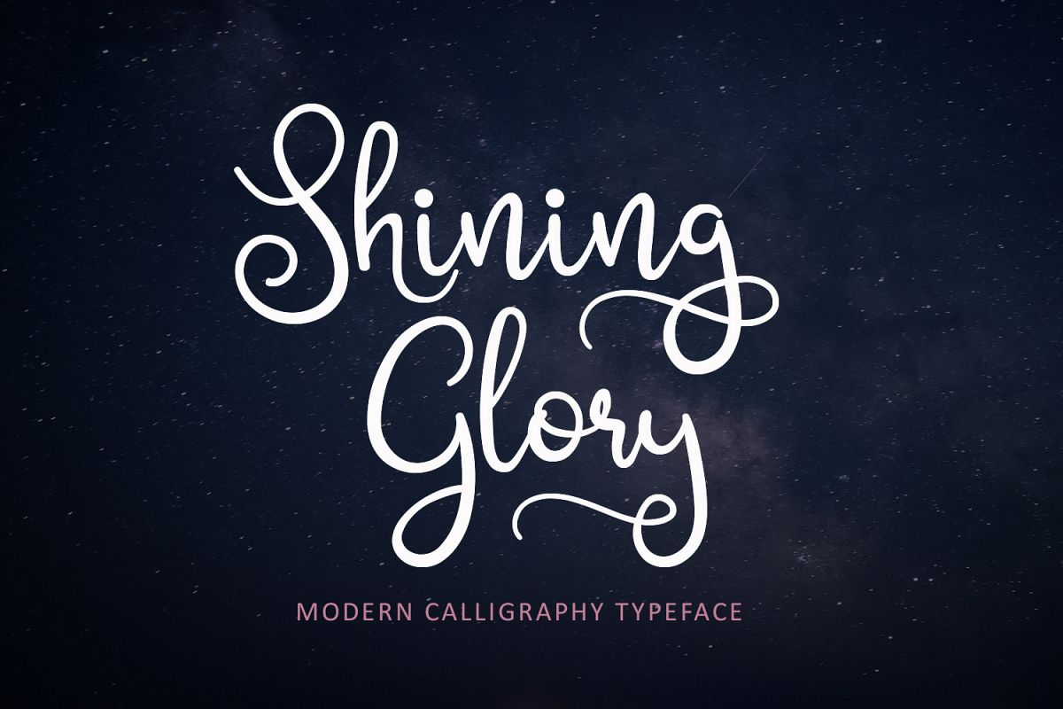 Shining Glory Script Font example image 1