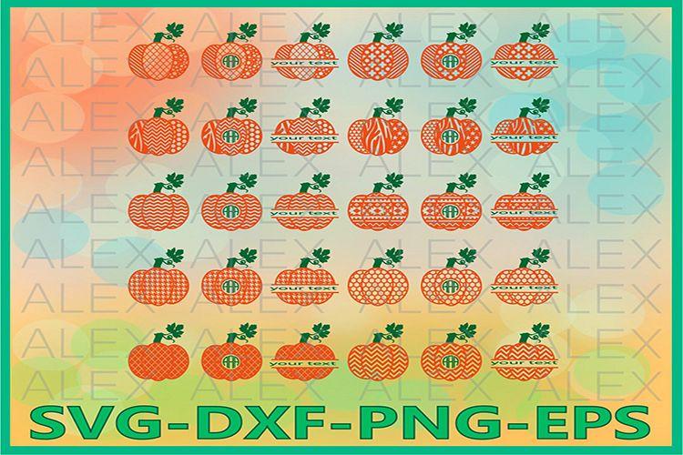 Pumpkin SVG, Pumpkin Monogram Svg, Halloween svg example image 1