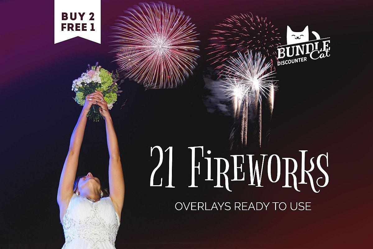 21 Firework Photo Overlays example image 1