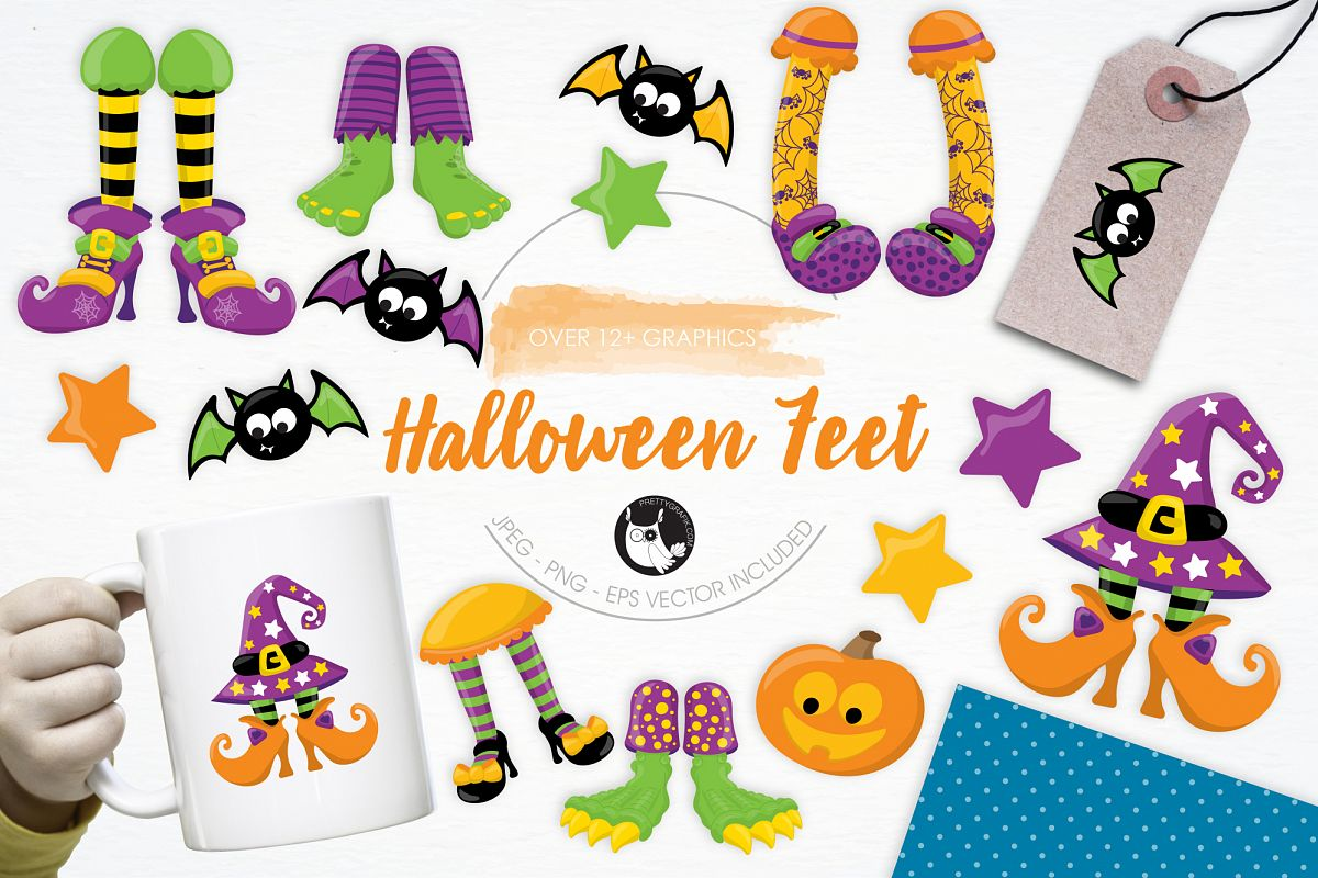 Halloween Feet graphics and illustrations example image 1