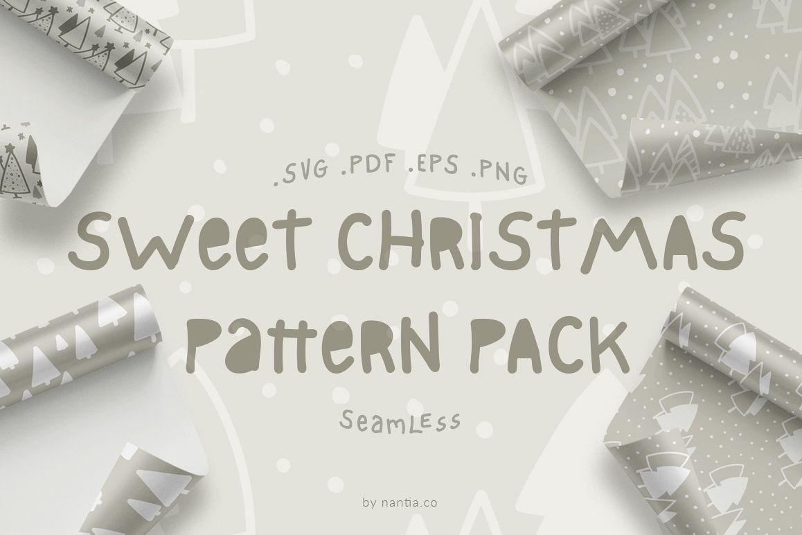 Sweet Christmas Patterns example image 1
