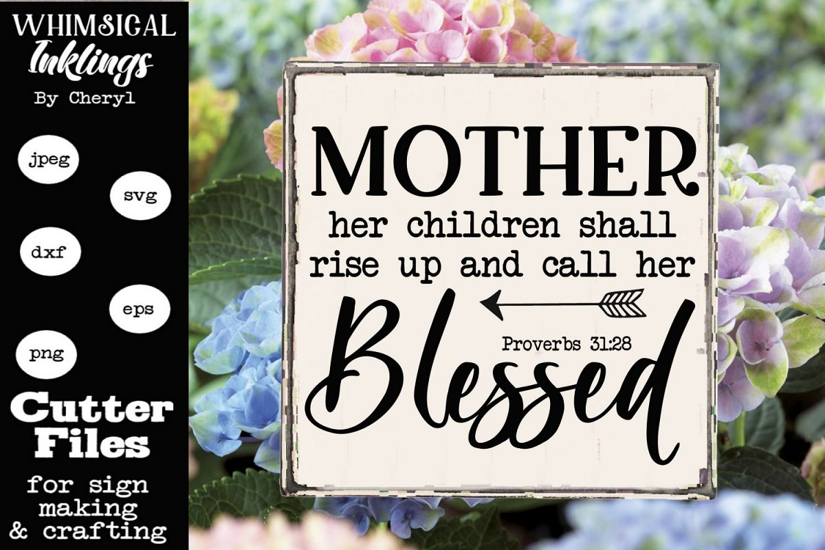 Blessed Mother SVG example image 1
