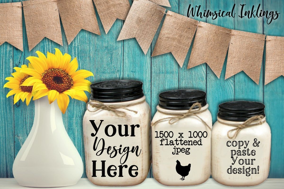 Canisters and Sunflowers Mock Up example image 1