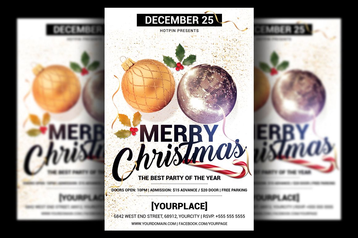 Christmas Party Flyer Template example image 1