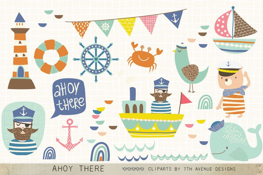 Ahoy There Cliparts example image 1
