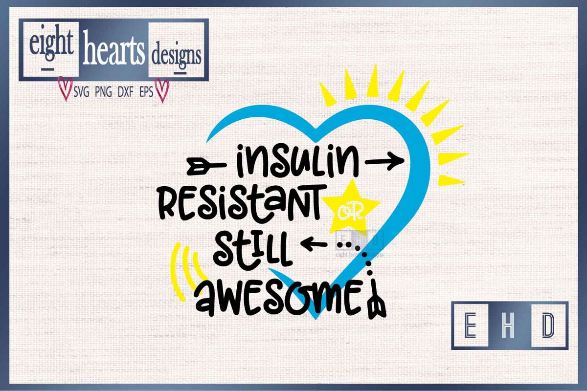 Insulin Resistant Type 1 Diabetes Svg Eps Dxf Cutting File 189608