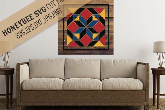 Amish Diamond Barn Quilt cut file example image 1