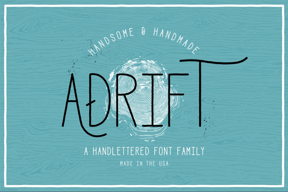 Adrift Font example image 1