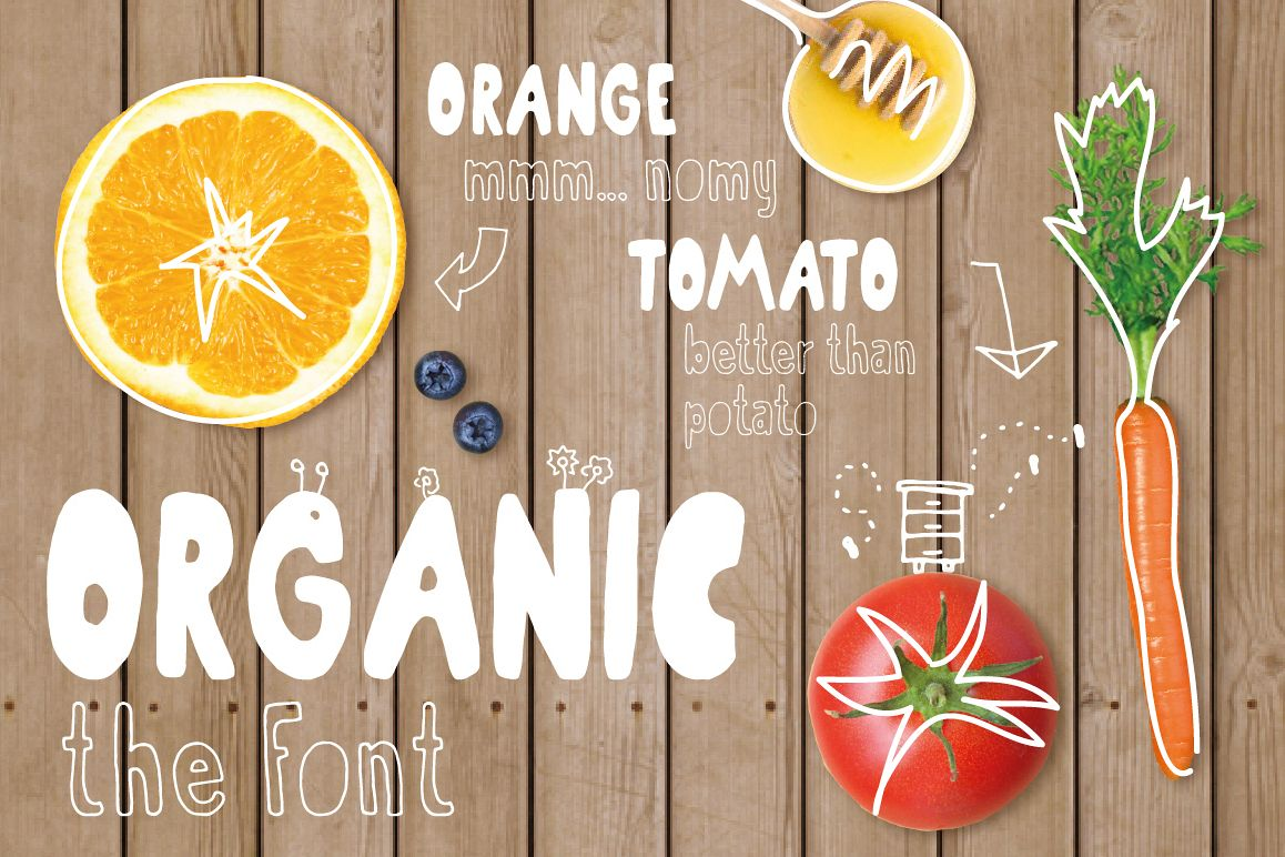 Organic the healthiest font family. example image 1