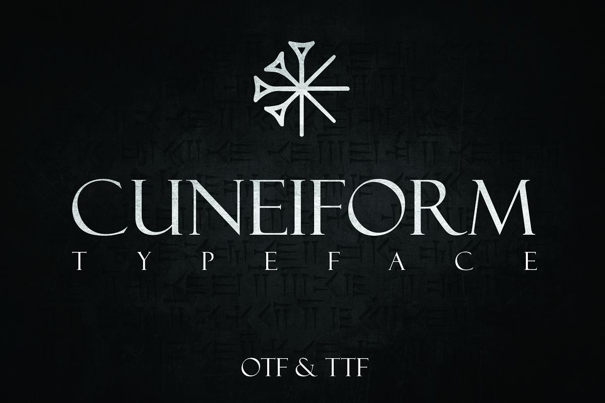 CUNEIFORM, An Ancient Typeface example image 1