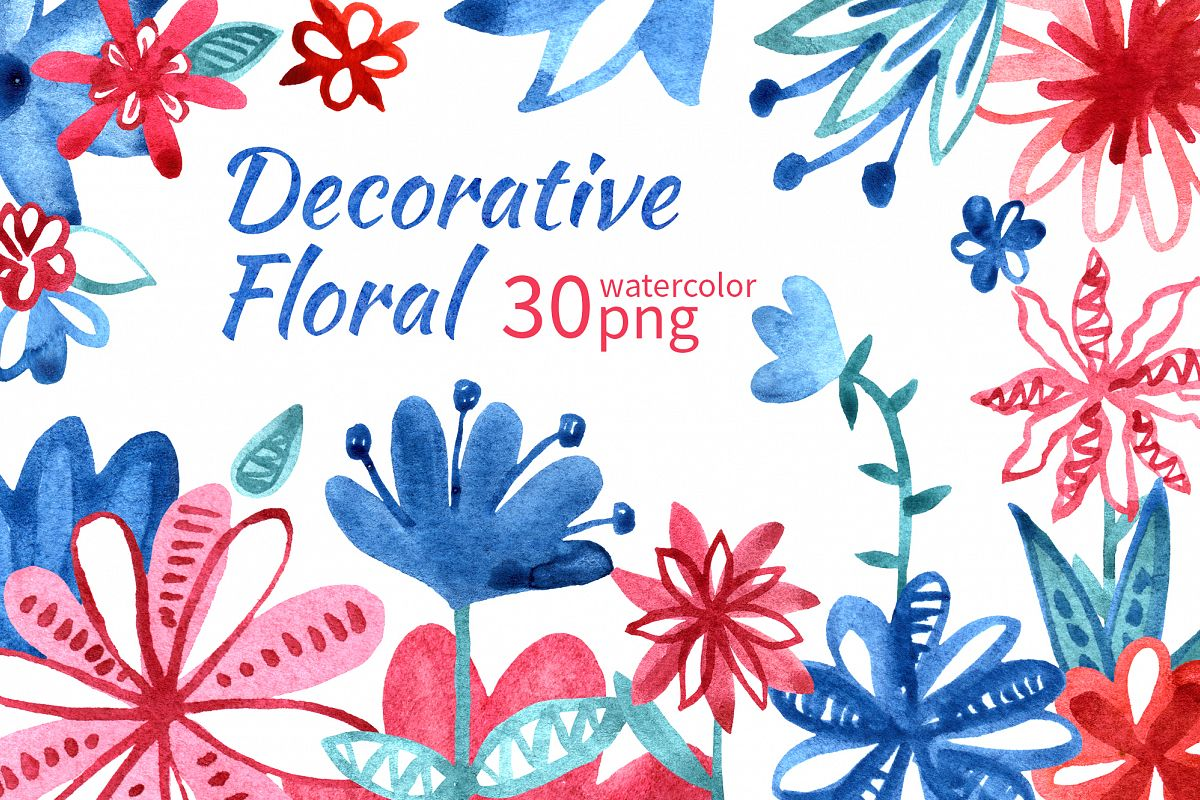 Decorative floral set example image 1