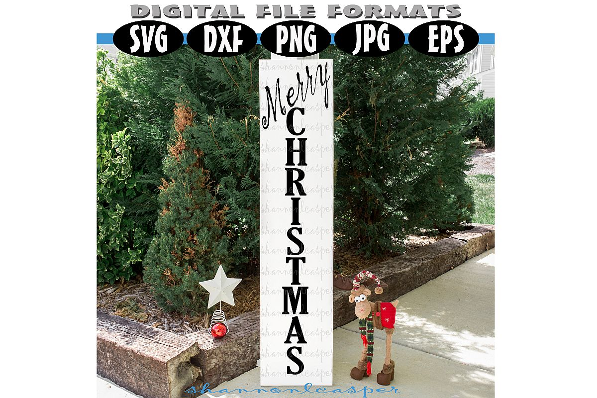 Christmas Porch Wood Sign SVG example image 1