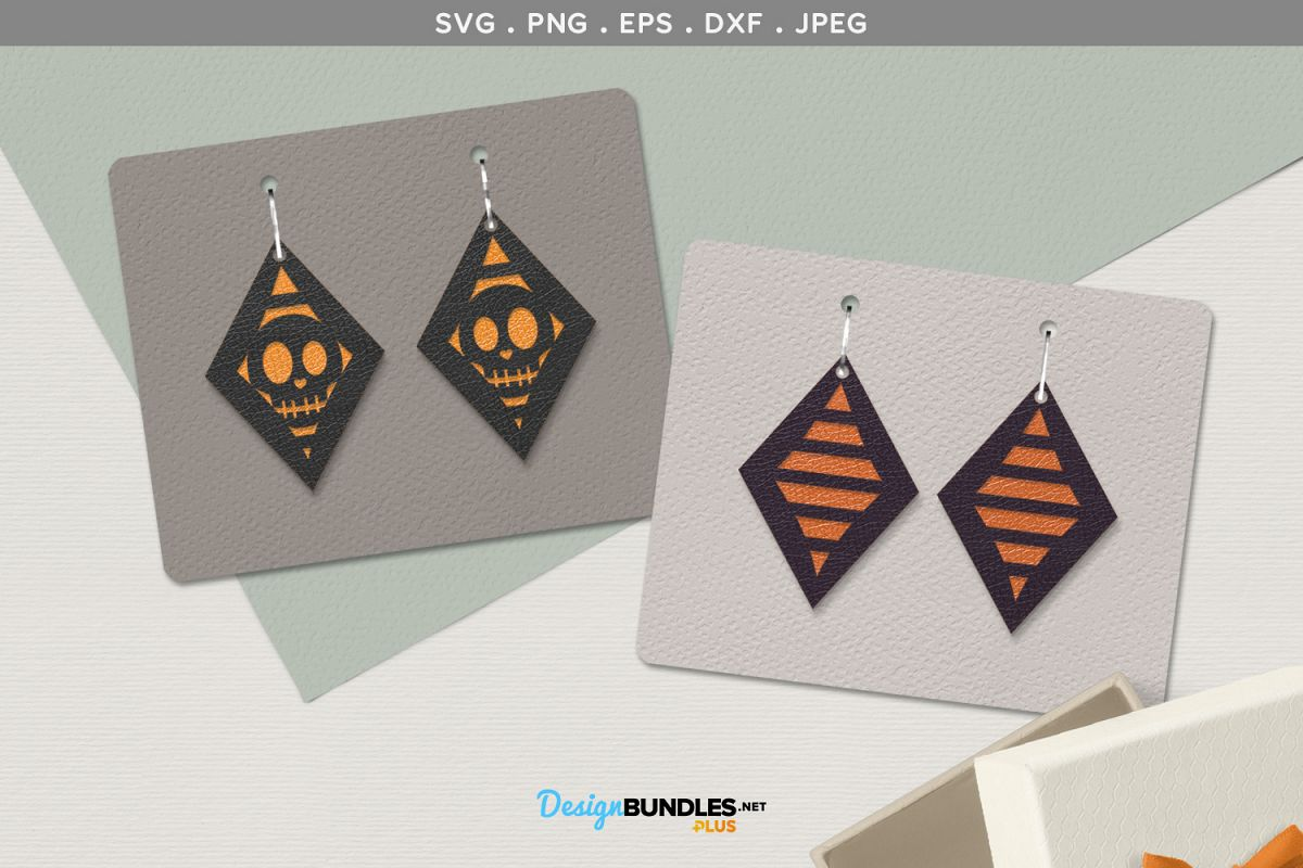 Halloween Earrings template example image 1