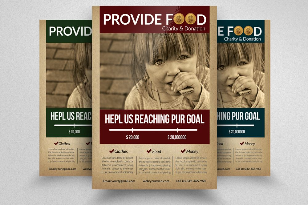 Charity & Fund Donation Flyer Templates example image 1