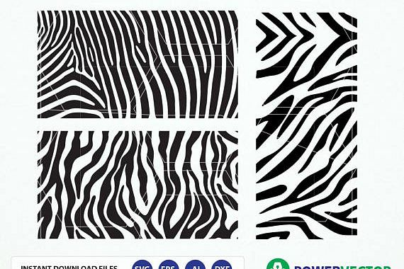 Zebra Pattern svg. Animal Print Svg File. Zebra stripes. Pattern svg, dxf, png. Zebra Pattern Vector Cut files for Silhouette and Cricut example image 1
