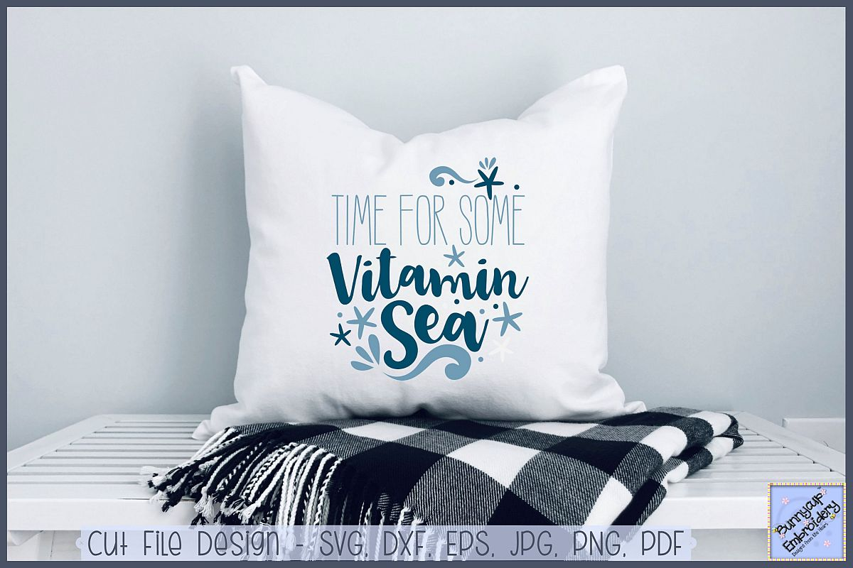 Time For Some Vitamin Sea - SVG, Clipart, Printable example image 1