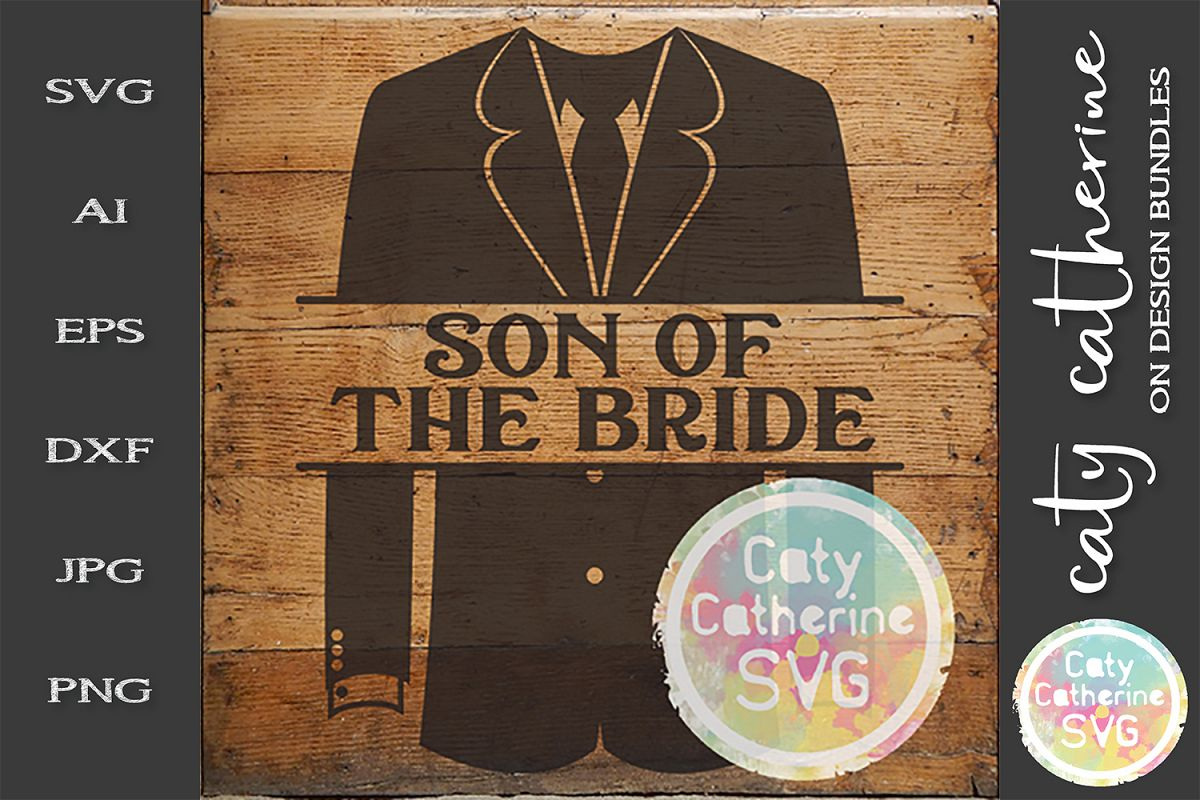 Wedding Party Male Roles Tuxedo Son Of Bride SVG example image 1