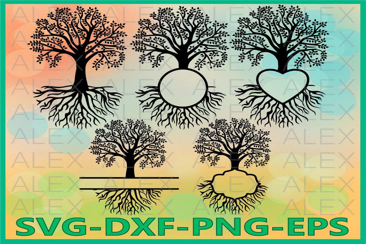 Family Tree SVG, Tree SVG Files, Tree Monogram Svg example image 1