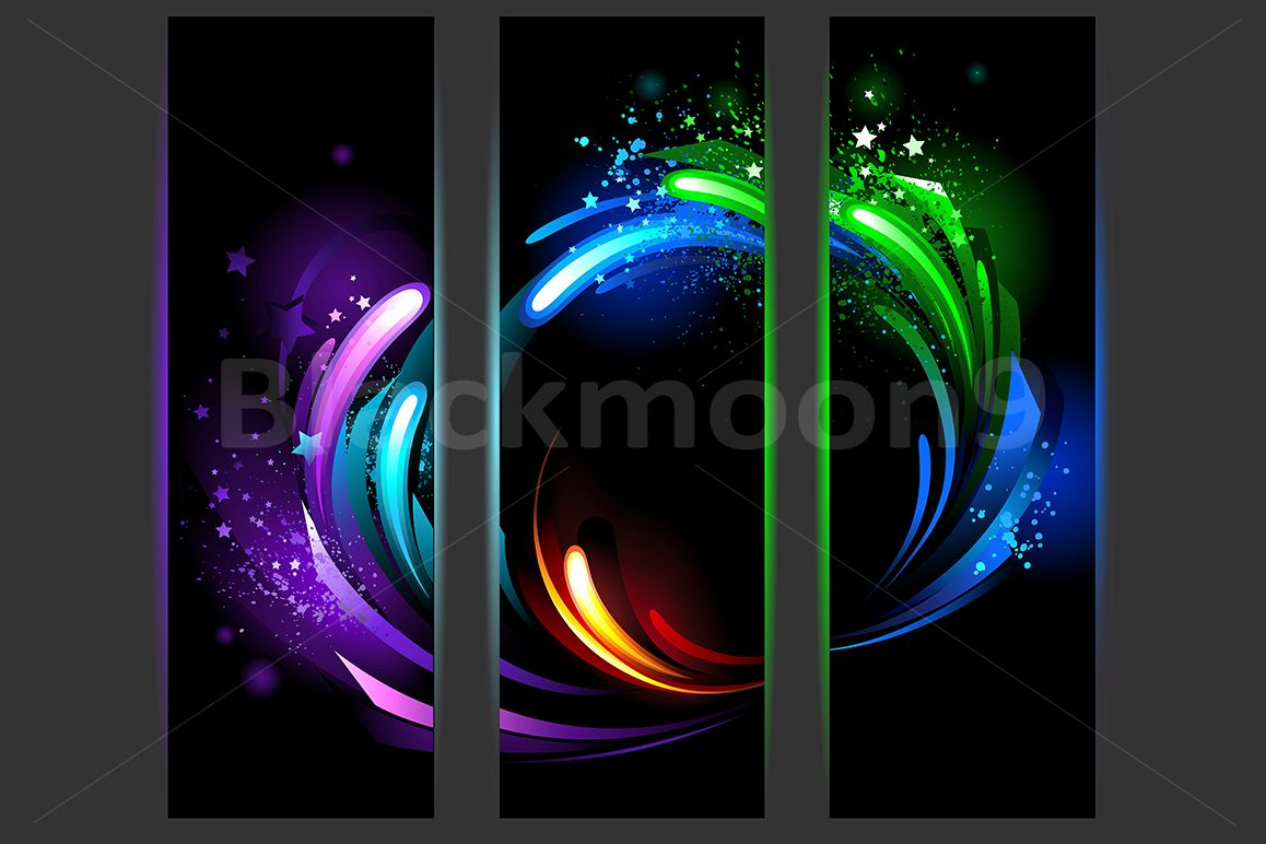 Vertical Banners with Abstract Background example image 1